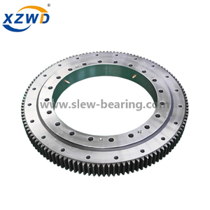 Four point contact bal internal geared high speed lightweight slewing ring bearing